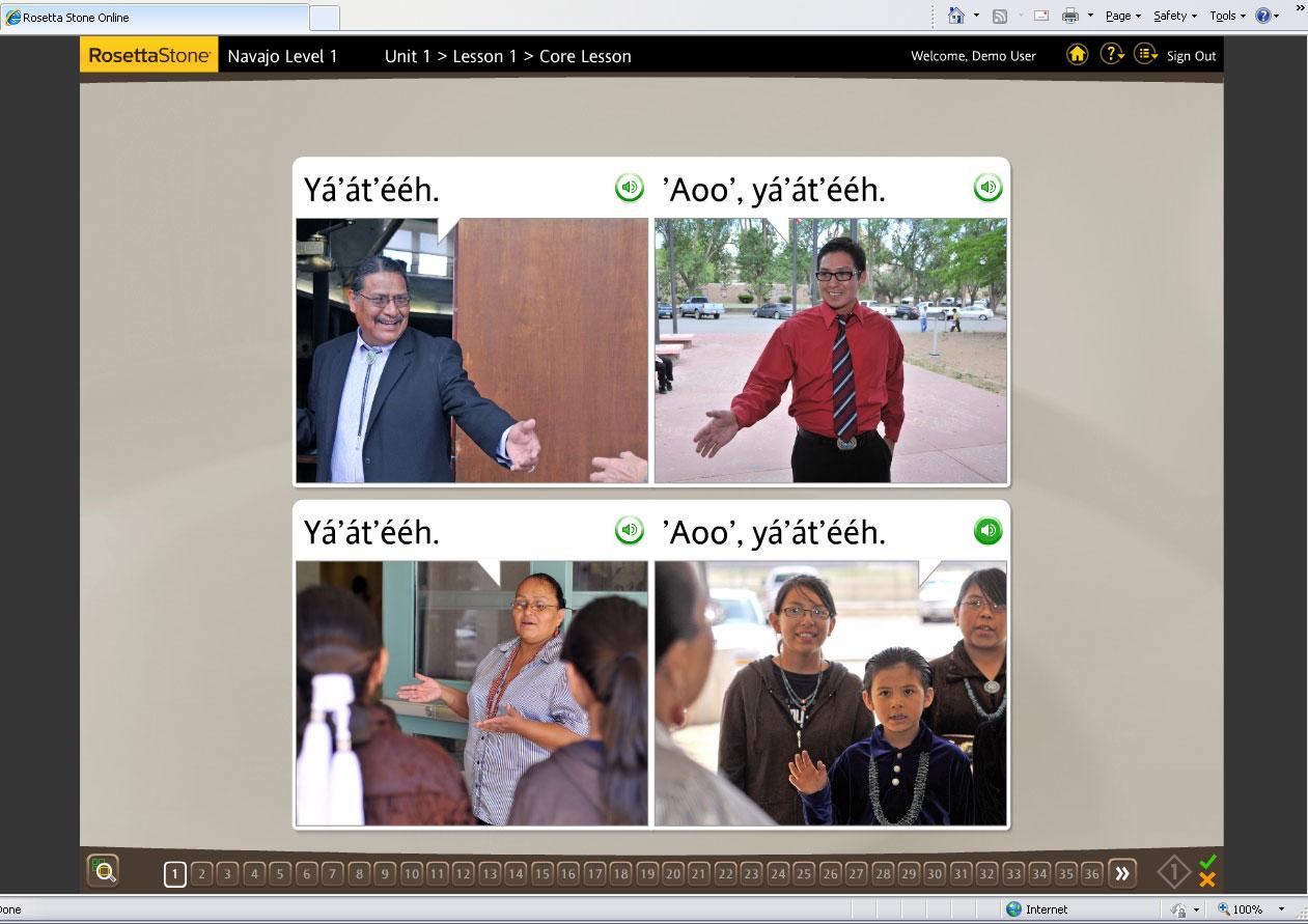 Farmington Daily Times: Navajo language software hits the ... Rosetta Stone Avans