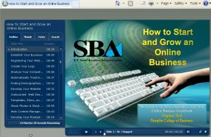 SBA's Starting an Online Business
